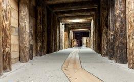 Salt miners corridors deep undeground - Wieliczka Salt Mine Royalty Free Stock Image