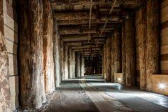 Salt miners corridors deep undeground - Wieliczka Salt Mine Royalty Free Stock Photography