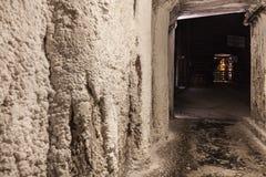 Salt miners corridors deep undeground - Wieliczka Salt Mine Royalty Free Stock Images