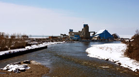 Salt Mines. A view of the salt mines in Goderich, Ontario Stock Photos
