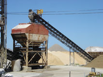 Salt mines conveyor Royalty Free Stock Image
