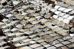 Salt Mines of Maras, Peru Royalty Free Stock Photos
