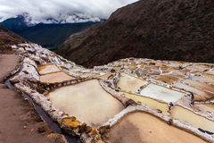 Salt mines in Maras province, Peru Royalty Free Stock Photos