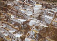 Salt mines near Cuzco Stock Image