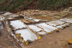 Salt mines near Cuzco Royalty Free Stock Photos