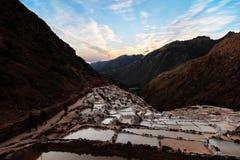 Salt mines in Peru Stock Photography