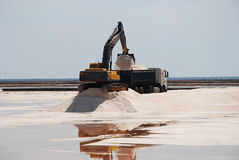 Salt mines, production - marshes of the Odiel. Stock Images