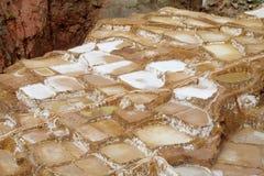 Salt mines Salinas de Maras, Cusco, Peru Royalty Free Stock Images