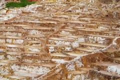Salt mines Salinas de Maras, Cusco, Peru Royalty Free Stock Photography