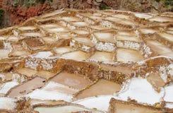Salt mines Salinas de Maras, Cusco, Peru Royalty Free Stock Image