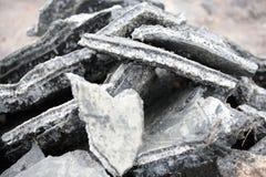 Salt mining Stock Photo