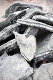Salt mining. Salt on the Salt lake Stock Image
