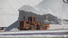 Salt mining on Bonaire stock footage
