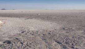 Salt mining in Colchani, in the Uyuni salt flat Salar de Uyuni, Bolivia stock photography