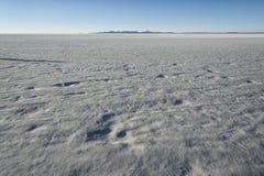 Salt mining in Colchani, in the Uyuni salt flat Salar de Uyuni, Bolivia stock image