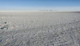 Salt mining in Colchani, in the Uyuni salt flat Salar de Uyuni, Bolivia stock images