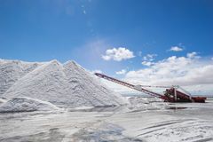 Salt mining equipment Stock Photo