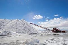Salt mining equipment Stock Photo