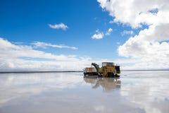 Salt mining equipment Stock Image