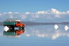 Salt Mining in Salar de Uyuni Royalty Free Stock Photos