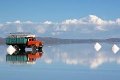 Salt Mining in Salar de Uyuni Royalty Free Stock Photos