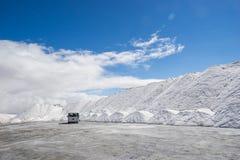 Salt mining Royalty Free Stock Images