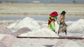 Salt mining stock video