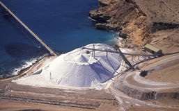 Salt mining stockpile Royalty Free Stock Photography