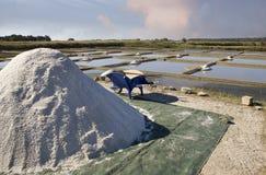 Salt mining Royalty Free Stock Photo