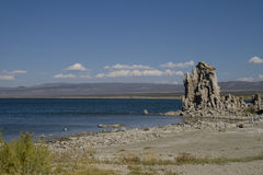 Salt Mono Lake in Sierra Nevada mountains Royalty Free Stock Photography