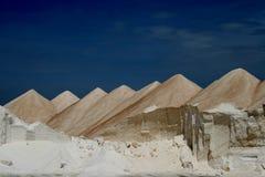 Salt mountain 2. Salt mountains in east of Majorca in Spain stock photography