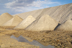 Salt mountain Stock Photo