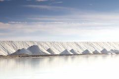 Salt mountain. Salt industry, Ukraine, Crimea. Salt for food and treatment Royalty Free Stock Photos