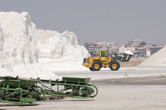 Salt mountain in southern Spain Stock Image