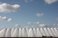 Salt mountains. Mountains of salt with clouds in salt fabric Stock Photos