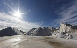Salt mountains landscape Stock Photos