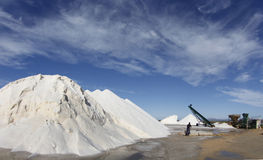 Salt  mountains Stock Images