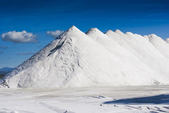 Salt Mountains stock photography
