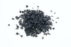 Salt närbild av svart Arkivbild