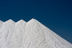 Salt, obtained from the evaporation of sea water Royalty Free Stock Images
