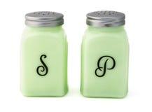 Salt och pepparshaker för tappning Arkivfoto