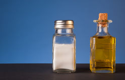 Salt and olive oil. Royalty Free Stock Image