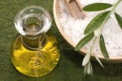 salt olivgrön för badfilialolja Royaltyfria Bilder