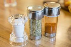 Salt,Oregano,Paprika In a bottle stock image