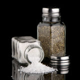 Salt and oregano shakers Stock Images