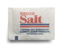 Salt Packet Royalty Free Stock Photo