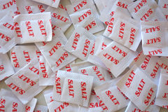 Salt Packets. Can be used as background Stock Photography