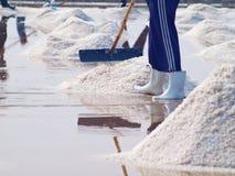 Salt pan Royalty Free Stock Images