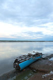 Salt pan at Bang Taboon in thailand Stock Photography