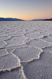 Salt pan polygons Royalty Free Stock Photography